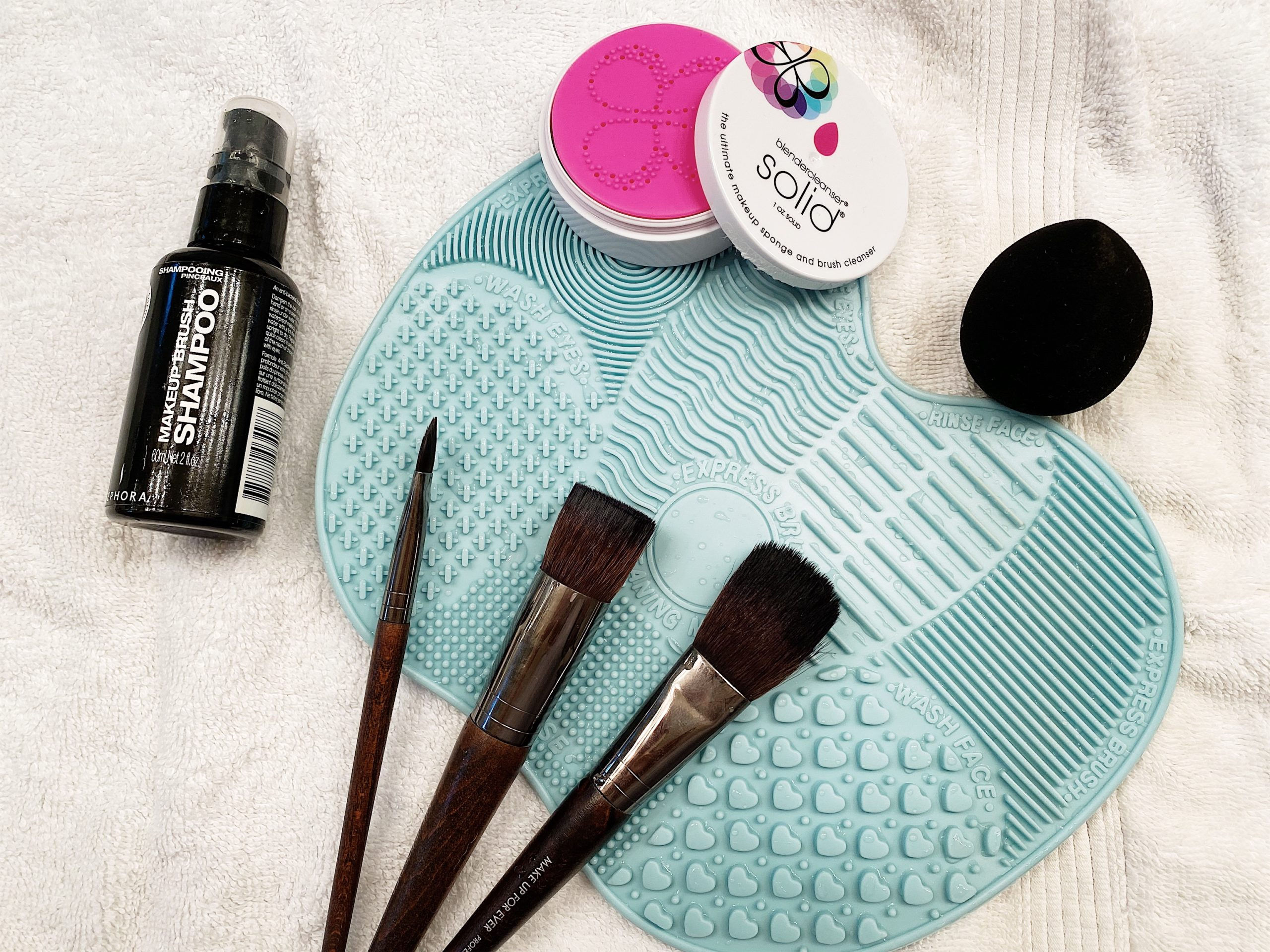 all the brushes cleansers mat